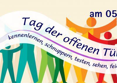 """Banner """"Tag der offenen Tür"""""""