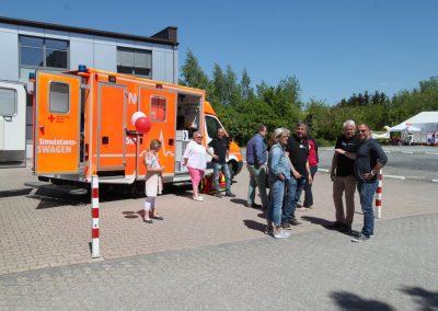 Ein Simulation-Rettungswagen vom Deutschen Roten Kreuz, bietet unseren Gästen ein realitätsnahes Erlebnis